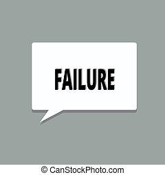 handstil, text, failure., begrepp, betydelse, försumma, eller, omission, expected, nödvändig, handling, brist, av, framgång