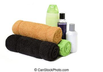 handtücher, und, bad, füllen, 2
