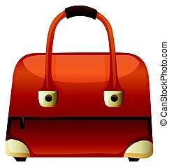 handtasche, stiel, reißverschluss