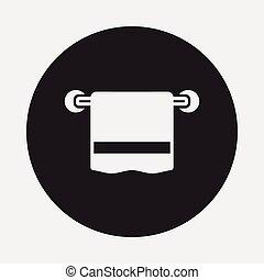 handtuch, ikone