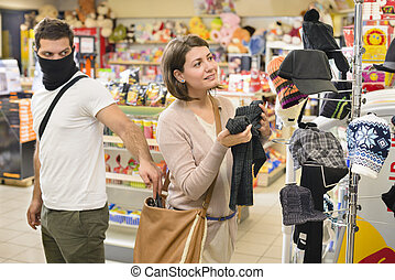 handväska, kvinna, tjuv, stöld