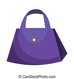 handväska, kvinnlig, mode, ikon