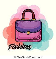 handväska, mode, kvinnlig, ikon