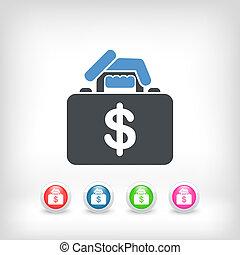 handväska, pengar