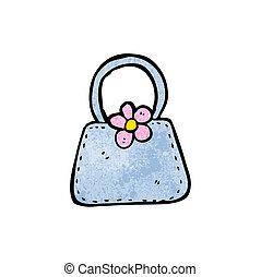 handväska, tecknad film