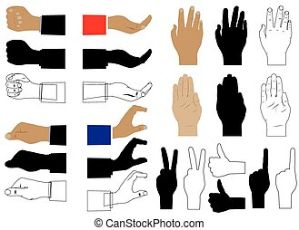 Hand.Various images and silhouettes - Hand. Various images...