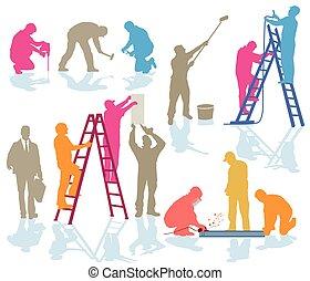 handwerker, farbe