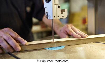 Handwork, carpentry concept, woodworking. Carpenter working ...