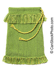 Handwoven bag - Craft project - green handwoven bag, ...