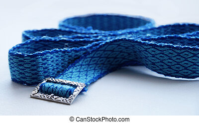 Handwoven belting - Photo of the handwoven belt with buckle ...
