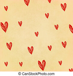 Handwriting heart shape on old paper
