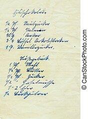 handwriting I - old handwritten receipt I
