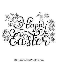Handwriting inscription Happy Easter