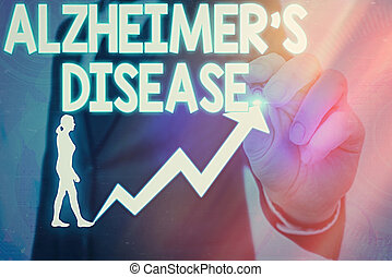 Handwriting text Alzheimers Disease. Conceptual photo irreversible brain disorder that slowly destroys memory