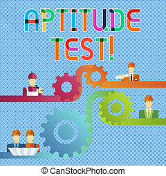 Handwriting text Aptitude Test. Concept meaning designed to ...
