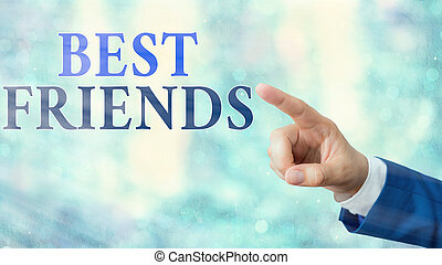 Handwriting text Best Friends. Concept meaning A an ...
