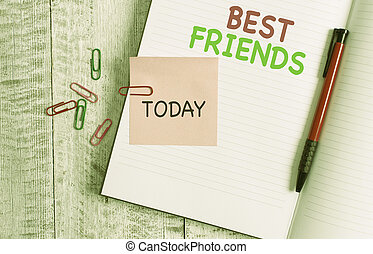 Handwriting text Best Friends. Concept meaning A ...