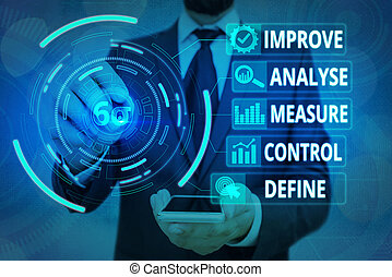 Handwriting text Business Intelligence. Concept meaning Business intelligence concept. Big data analytics performed on the large set of data. Agility in BI.