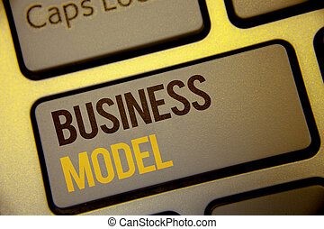 Handwriting text Business Model. Concept meaning Innovative Strategic Plan Marketing Vision Successful Ideas Text two Words written Computer Keyboard Left Shift Key Button work press.