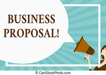 Handwriting text Business Proposal. Concept meaning written...