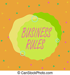 Handwriting text Business Rules. Concept meaning a specific ...