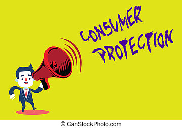 Handwriting text Consumer Protection. Concept meaning Fair ...