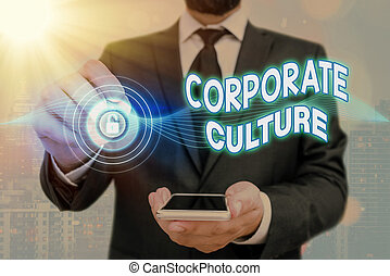 Handwriting text Corporate Culture. Concept meaning Beliefs ...
