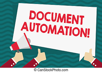 4670380f40d3e ... Three Hands Holding Colorful Zigzag Lightning Arrow Pointing and Going  Up · Handwriting text Document Automation. Concept meaning workflows that  assist ...