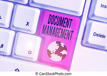 Handwriting text Document Management. Concept meaning ...