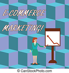 Handwriting text E Commerce Marketing. Concept meaning...