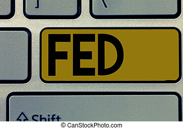 Handwriting text Fed. Concept meaning A federal agent and official especially a member of the FBI Reserve army