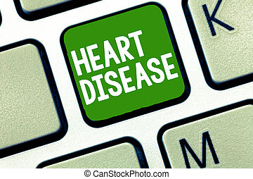 Handwriting text Heart Disease. Concept meaning Heart disorder Conditions that involve blocked blood vessels