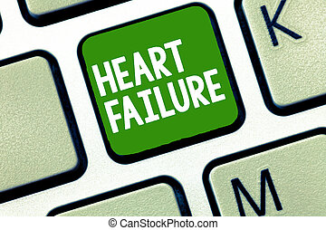 Handwriting text Heart Failure. Concept meaning Failure of...