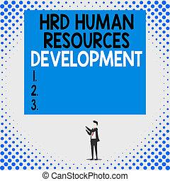 Handwriting text Hrd Huanalysis Resources Development. ...