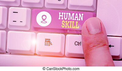 Handwriting text Huanalysis Skill. Concept meaning involve ...