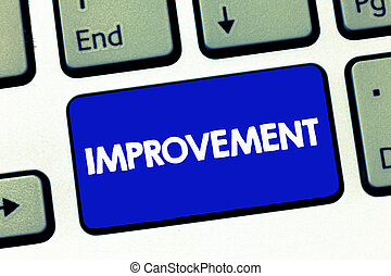 Handwriting text Improvement. Concept meaning Make things better Grow Special changes Innovation Progress