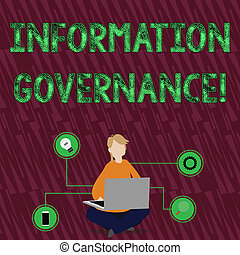 Handwriting text Information Governance. Concept meaning ...