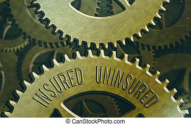 Handwriting text Insured Uninsured. Concept meaning Company selling insurance Checklist to choose from.