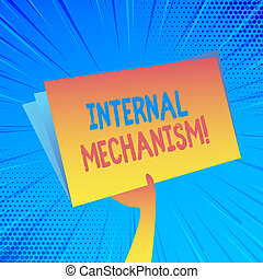 Handwriting text Internal Mechanism. Concept meaning The ...