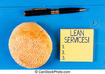 Handwriting text Lean Services. Concept meaning application ...