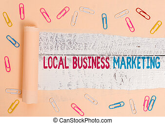 Handwriting text Local Business Marketing. Conceptual photo Localized specification on Store characteristic