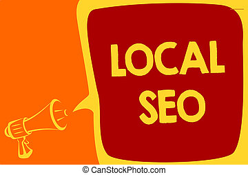Handwriting text Local Seo. Concept meaning This is an ...