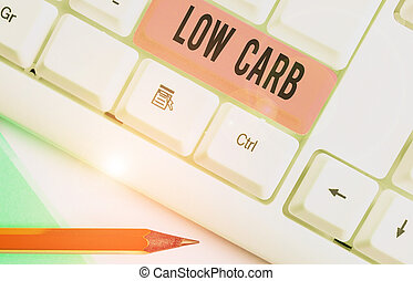 Handwriting text Low Carb. Concept meaning Restrict ...