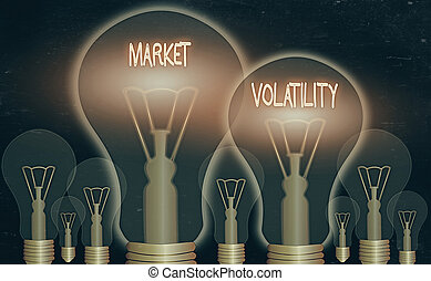 Handwriting text Market Volatility. Concept meaning ...