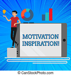 Handwriting text Motivation Inspiration. Concept meaning ...