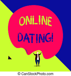 Handwriting text Online Dating. Concept meaning practice of ...