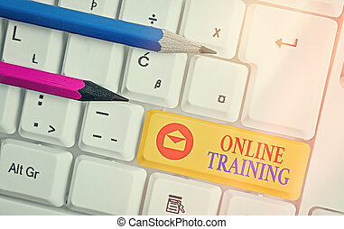 Handwriting text Online Training. Concept meaning certain ...