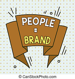 Handwriting text People Brand. Concept meaning Personal ...