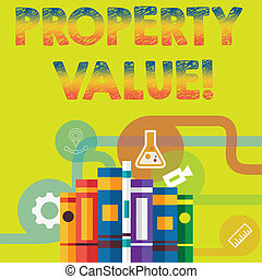 Handwriting text Property Value. Concept meaning Estimate of Worth Real Estate Residential Valuation.