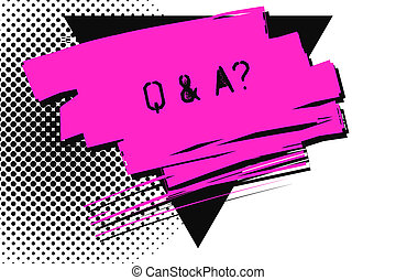 Handwriting text Q And A Question. Concept meaning in which ...